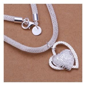 Gorgeous Silver Heart Necklace